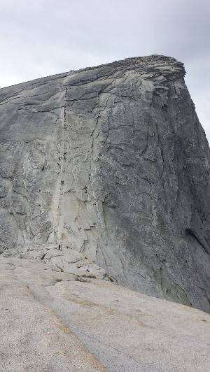 Cabling up Half Dome